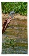 Throwing Water I Beach Sheet