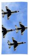 Thunderbirds In Flight Beach Towel