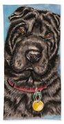 Tia Shar Pei Dog Painting Beach Towel