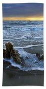 Tides At Driftwood Beach Beach Towel