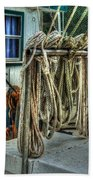 Tied Up Lines Beach Towel