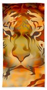 Tiger Illustration Beach Towel