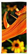 Tiger Lily Bud And Bloom Beach Towel