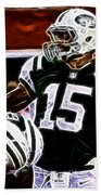 Tim Tebow  -  Ny Jets Quarterback Beach Towel by Paul Ward