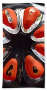 Orange And Black Art -time - Sharon Cummings Beach Towel