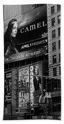 Times Square Black And White Beach Towel