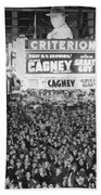 Times Square Election Crowds Beach Towel
