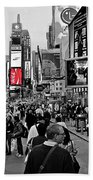 Times Square New York Toc Beach Towel