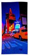 Times Square Nitelife Beach Towel