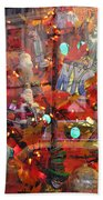 Times Square Reflections Beach Towel