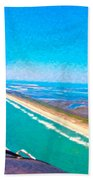 Tiny Airplane Big View II Beach Towel