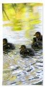 Tiny Baby Ducks Beach Towel
