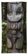 Tlingit Totem Pole, Sitka National Beach Towel