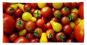 Tomatoes Background Beach Towel