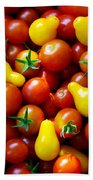 Tomatoes Background Beach Towel by Carlos Caetano