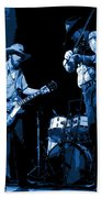 Tommy And Charlie Play Some Blues At Winterland In 1975 Beach Towel