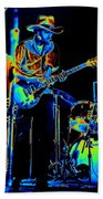 Getting Very Electric At Winterland In December 1975 Beach Towel