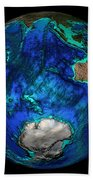 Topographical Map Of Coordinates 45 S Beach Towel by Science Source