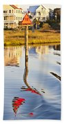 Topsail Sound Sunset Beach Towel by Betsy Knapp