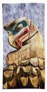 Totem Pole In The Pacific Northwest Beach Towel