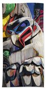 Totem Poles In The Pacific Northwest Beach Towel