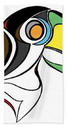 Toucan And Company On White Beach Towel