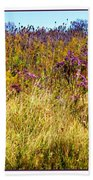 Touch Of Purple In October Beach Towel