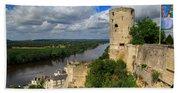 Tour Du Moulin And The Loire River Beach Towel