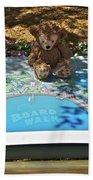 Tourist Bear Beach Towel
