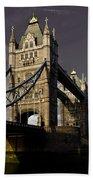 Tower Bridge Beach Towel by David Pyatt