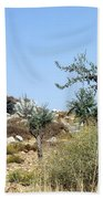 Tower Of Beitin - Biblical Bethel Beach Towel