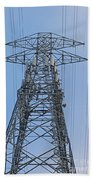 Towers And Lines Beach Towel