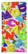 Toy Letters Beach Towel