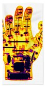 Toy Robotic Hand X-ray Beach Towel