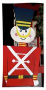 Toy Soldier Christmas In Virginia City Beach Towel