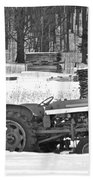Tractor At The Mill  Beach Towel