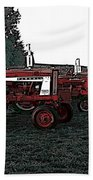 Tractor Row Beach Towel