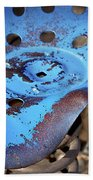 Tractor Seat Close Up Beach Towel
