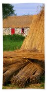 Traditional Thatching, Ireland Beach Towel