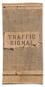 Traffic Signal  Beach Towel