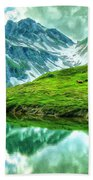 Travelers Rest Swiss Alps Beach Towel