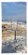 Travertine Limestone Terraces Beach Towel
