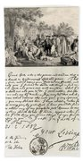 Treaty Between William Penn Beach Towel