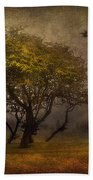Tree And Birds Beach Towel by Svetlana Sewell