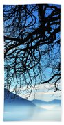 Tree Branches And Sun Beach Towel