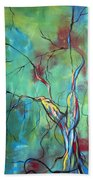 Tree Of Winding Color Beach Towel