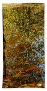 Tree River Reflections Beach Towel