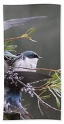 Tree Swallow - Standing Guard Beach Towel