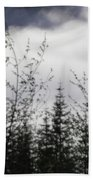 Trees And Clouds Beach Towel