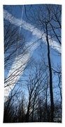 Trees And Trails Beach Towel
